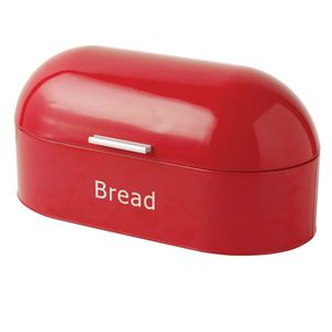 Agent wanted large red retro storage metal bread bin
