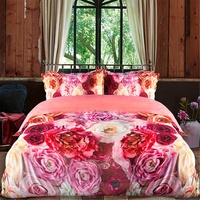 luxury printing bedding set high density microfiber comforter set customized bedding set