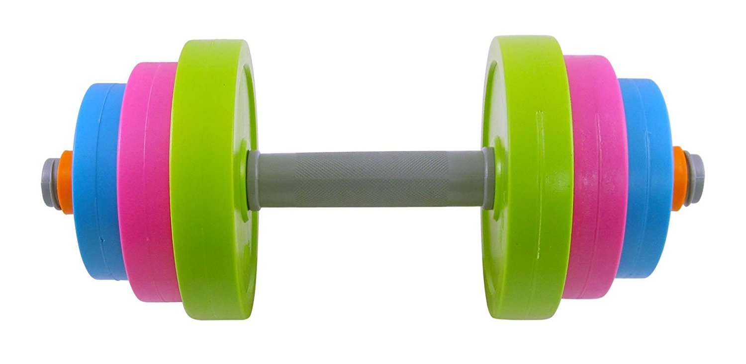 Liberty Imports Adjustable Dumbbell Toy Set for Kids - Fill with Beach Sand or Water!