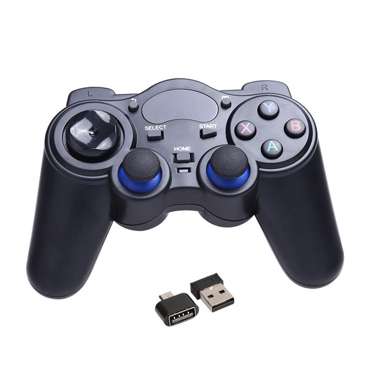 China manufacturer direct supply 2.4G RF Wireless Gamepad Joystick for sale & game control for smart tv box