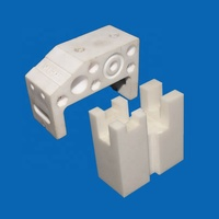 Ceramic Connector High Temperature Higher Dielectric Strength Alumina Zirconia Electrical Ceramic Connector Blocks
