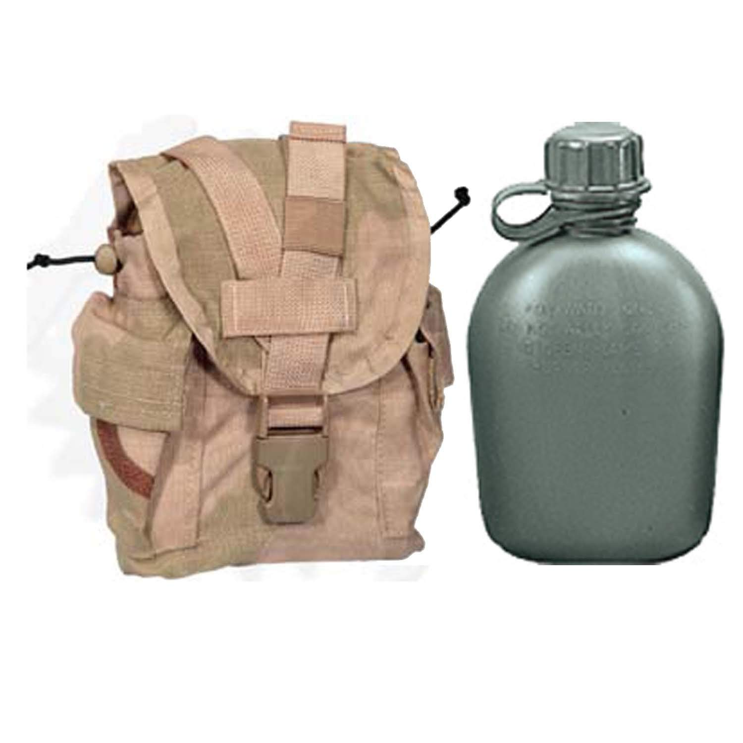 443e9641fd9 Get Quotations · Military Outdoor Clothing Never Issued U.S. G.I. 1 quart  Olive Drab Military Canteen with Previously Issued U.S. G.I.