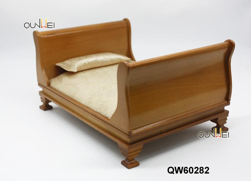en bois bedboard inclus Qualité à l/'échelle 1:24 Maison De Poupées Lit simple Kit DS08