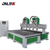 2400*2500mm 6 head cnc router 4 Axis Multi Head Wood CNC Rotary