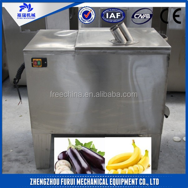 electric fruit slicing machine/round shape fruit slicer/customized fresh banana cut into roud slices machine