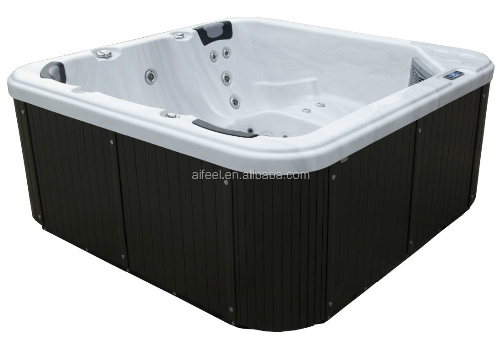cheap low price simple small family outdoor massage 2 lounge 5 persons hot tub