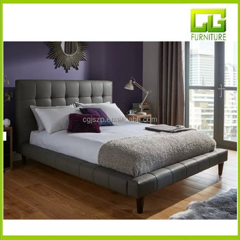 . Tatum Grey Faux Leather Bed Frame For Bedroom   Buy Modern Soft Bed White  Leather Bed Frame French Upholstered Bed Product on Alibaba com