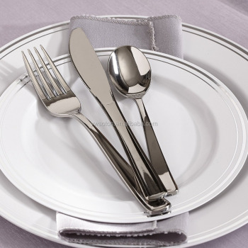 Wedding Disposable Plastic Plates Plastic silverware Cutlery Sets : wedding disposable tableware - pezcame.com