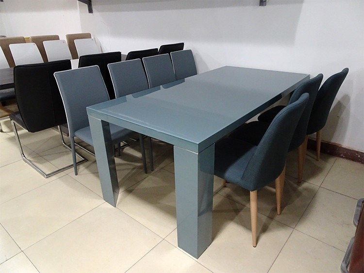 Usa 10 seater black tempered glass wood leg dining room for 10 seater table for sale