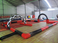 inflatable road race track car track Go karts