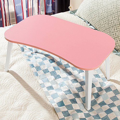 DL furniture -Large Foldable Bed Tray Lap Desk, Perfect for Watching Movie on Bed or as Personal Dinning Table | Pink