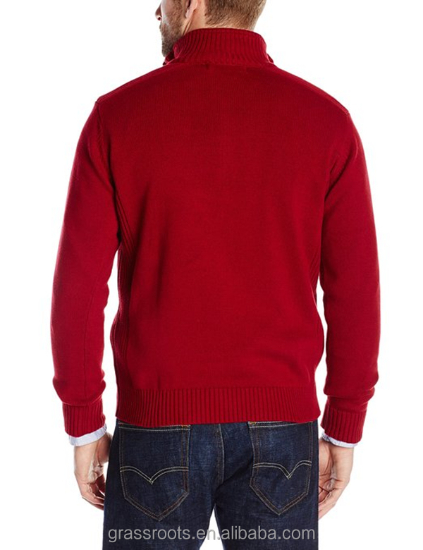 Custom Knit Sweater Long Sleeve Man Pullover Sweater with Zipper