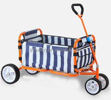 outdoor sports folding wagon with canopy/garden utility travel cart