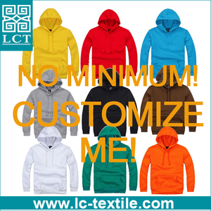 no minimum cheap promotional custom print pullover hoodie LCTH-003