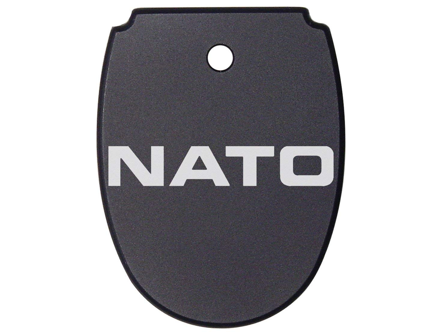 NDZ Performance For SIG SAUER P320 P250 Mag Plate Black .45 Only NATO Text