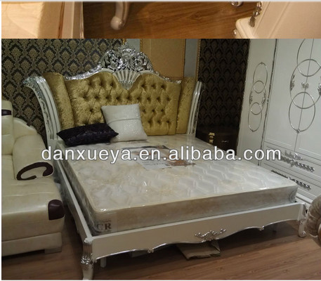 Dxy-attractive Design Purple High Back Furniture Bed With Crystal ...