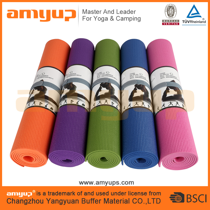 Custom print eco PVC yoga mats