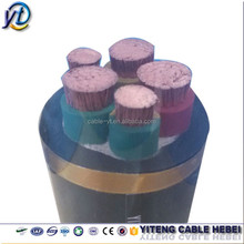 3.6/ 6kv metal screened monitoring flexible rubber copper cable for coal cutter / mining pit/ mobile equipment