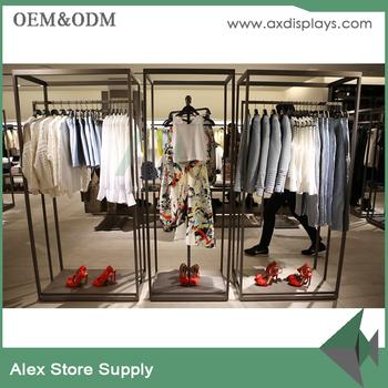furniture for hanging clothes. metal hanging zara women clothes display rack for garment shop furniture d