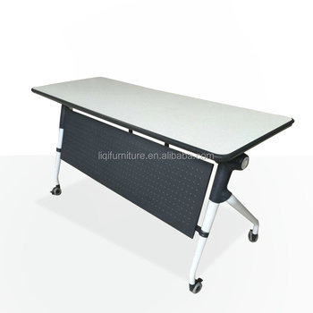 multifunctional simple foldable rectangular table for event meeting
