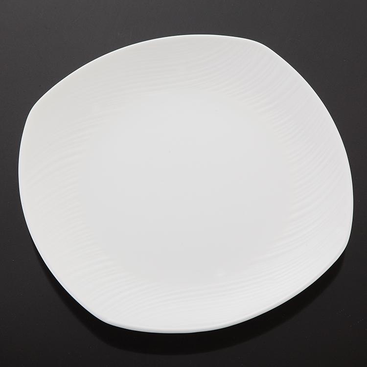 P&T Royal ware white Square dinner plate bone china dinner plate & fork
