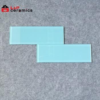 4x12 Aqua Blue Glass Subway Tile For Backsplashkitchenbathroom