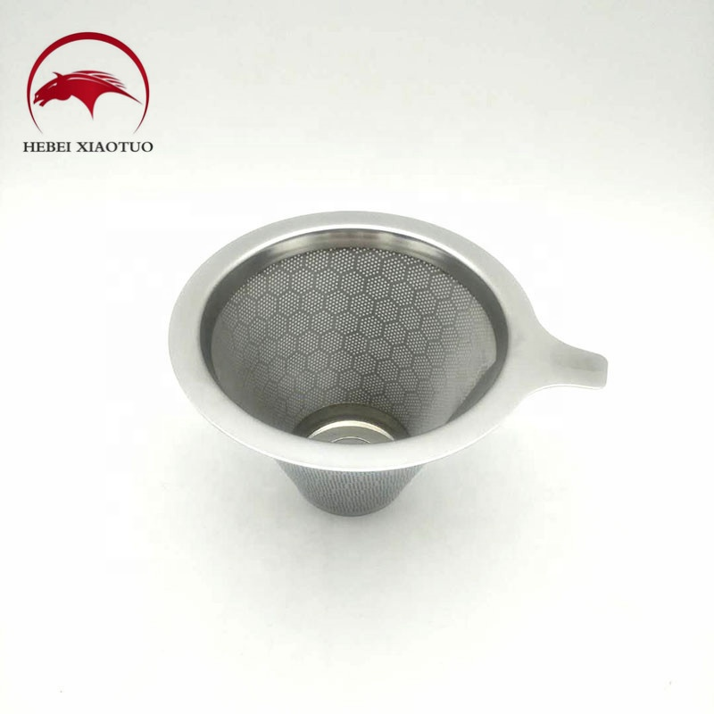 Low price reusable and good quality v60 cone single cup stainless steel pour over <strong>coffee</strong>