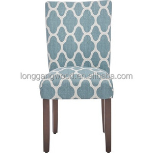 Hot deals custom cheapest KD french style wooden dining chair flower printed restaurant dinning chairs/dining chair/cloths chair