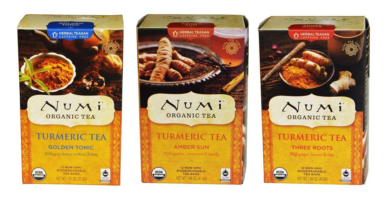 Numi Organic Tea Turmeric Blends Sampler (Pack of 3)