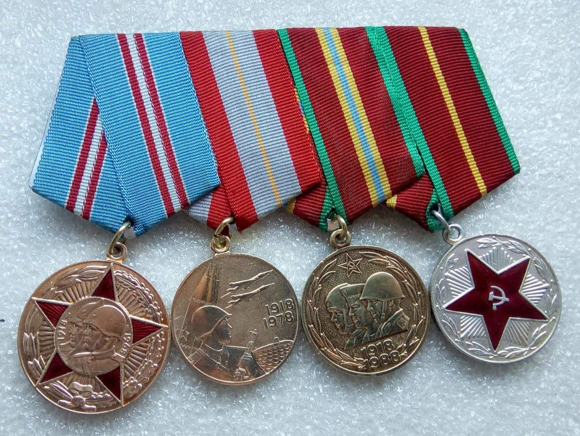 6be24270c1242 Set 4 Soviet Army USSR Russian Medals Veteran WW II Red Army RKKA Communist  Bolshevik Period