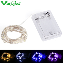 Battery Operated LED String Light 2M 20leds Silver Wire DC 4.5V Fairy Lights Christmas New Year Wedding Decoration Starry Lights