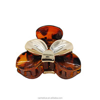 Mix Color Silver Match Tortoise Shell Butterfly Shape Hair Claw Clip For Women Hairstyle In Party Extension