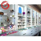 Cosmetic salon shop wall mounted furniture for make up shop decoration