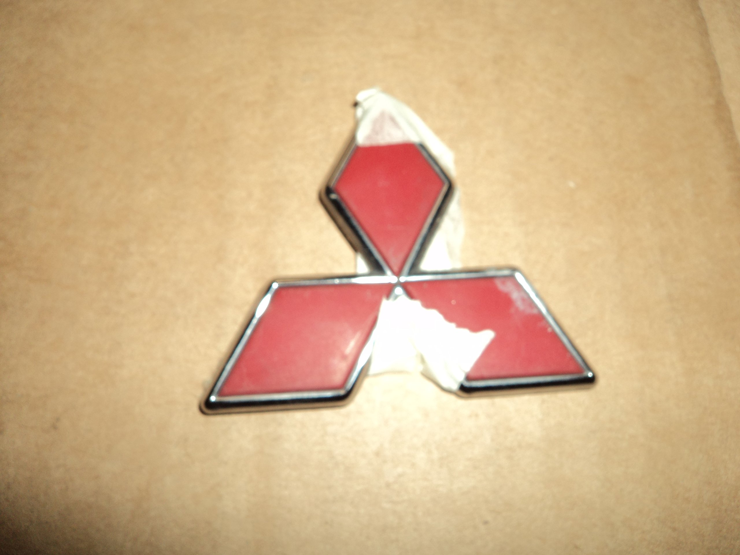 Mitsubishi Montero Sport Red Rear Trunk OEM Used Emblem Badge Diamond