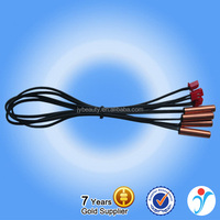 ISO9001-2008 2-Wire Black Cable Water Conductivity NTC Temperature Sensor For Air Conditioner