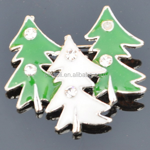 red enamel smile star Christmas brooches