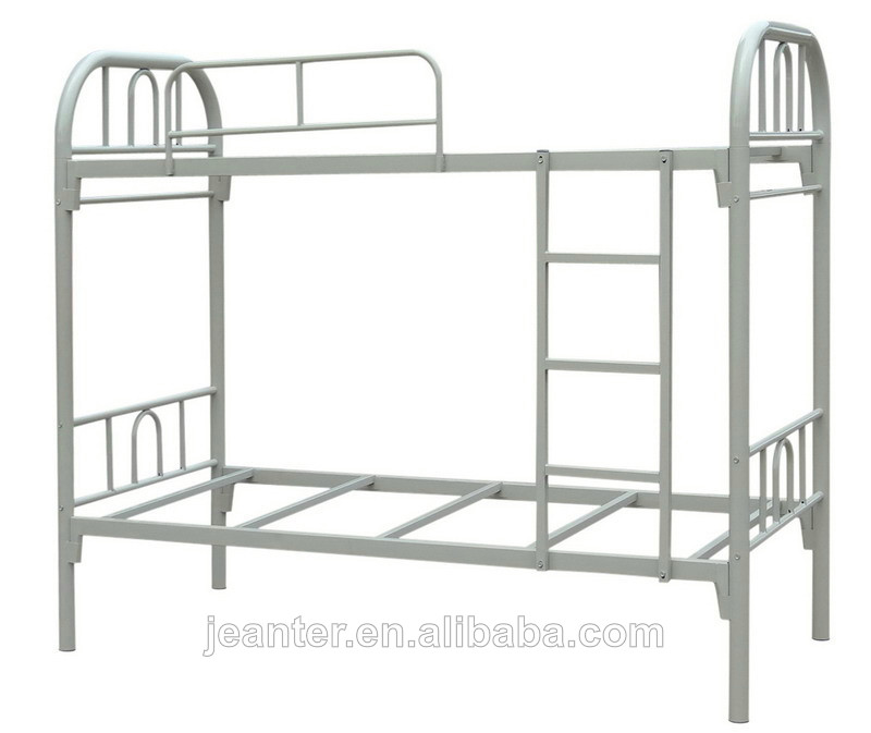 Steel bunk bed double decker bed guangzhou single metal for Cheap double deck bed