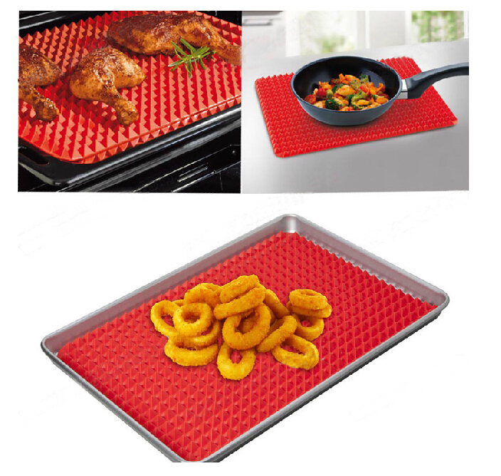 41*28.5cm FDA food grade pyramid silicone baking Insulation sheets liner mat for oven and microwave