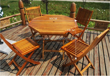 Good Style Outdoor Wood Slat Folding Chair/Table(DH 2017)