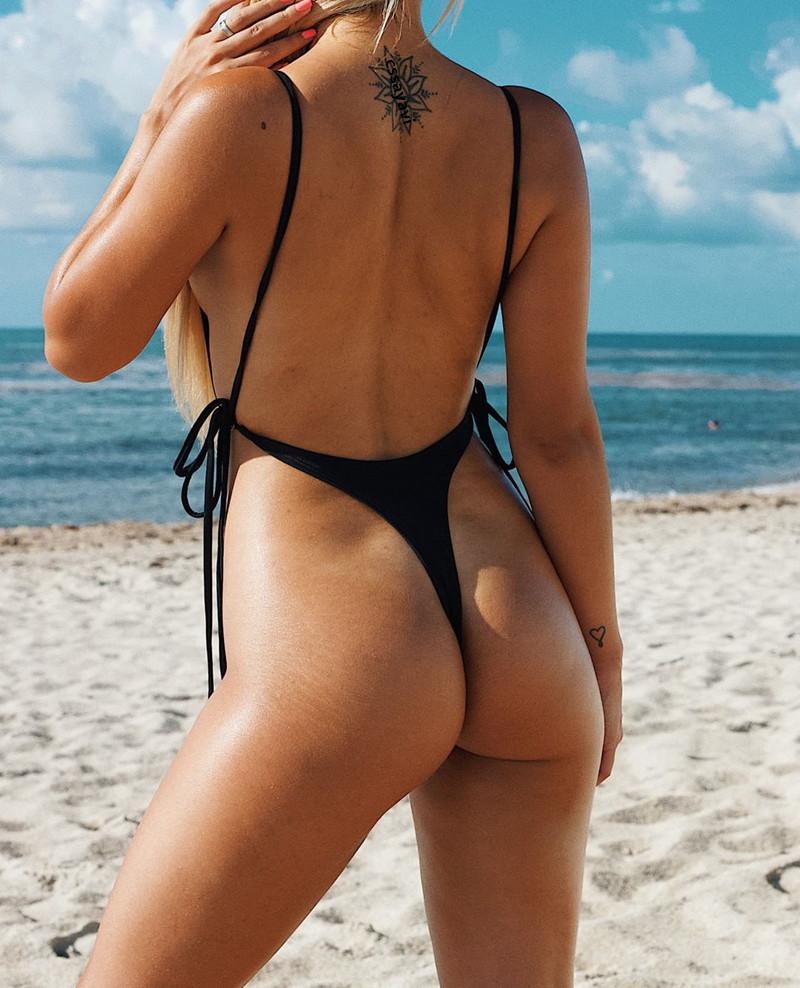 Women Bikinis Set Front Tie Chain Swimwear Sexy Swimsuit