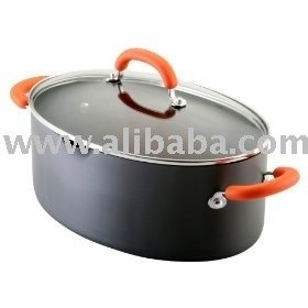 Rachael Ray 8 Quart Hard Anodized Orange Covered Oval Pasta Pot