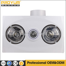 hot sell electric ceiling mounted bathroom fan & infrared heaters of white color SAA approval