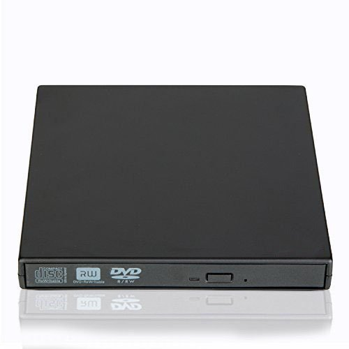 Ploveyy External DVD Writer, Portable Ultra Slim External USB 2.0 CD-RW/ DVD-RW Burner Writer External DVD Drive for Laptops Notebook Desktop PC (Black)
