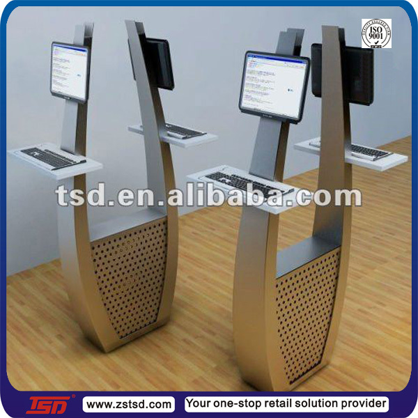 Tsd-m171 China Factory Custom Store Fashion Display Props For Sale/floor  Standing Metal Shelf Stands/computer Display Counter - Buy Computer Display