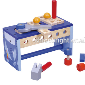 funny baby preschool toys educational toys elephant workbench kids wooden baby toys