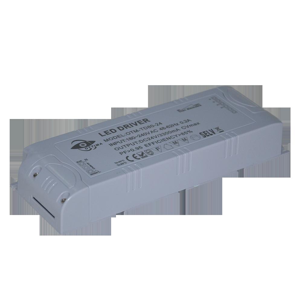 Triac затемнения светодио дный светодиодный драйвер 12 В в 80 Вт светодио дный led питание с FCC ETL SAA CE ROHS сертификат