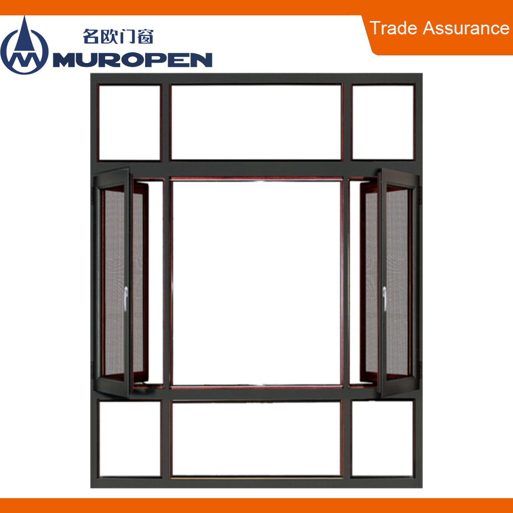 Australian standard impact resistant Push Out french industrial windows used