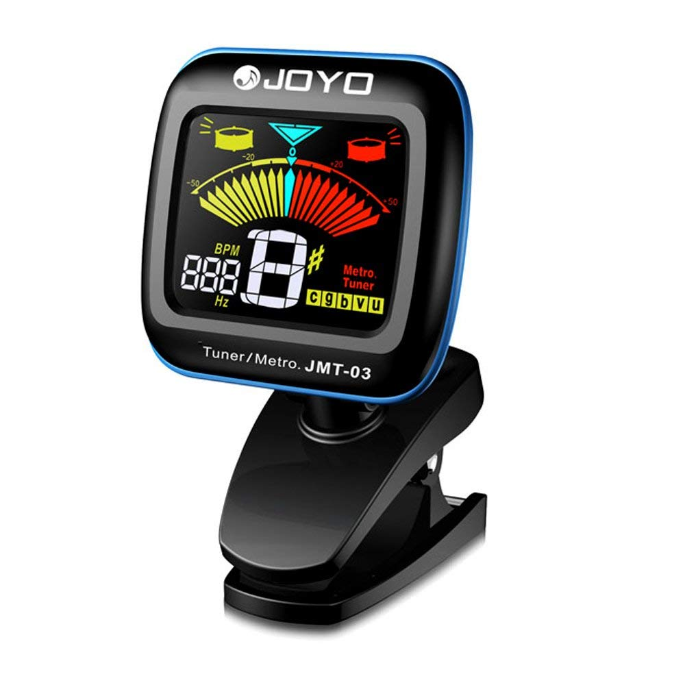 JOYO Clip-On Tuner for Guitar, Bass & Violin with Metronome Function, 2 in 1 Multi-Instrument Chromatic Tuner