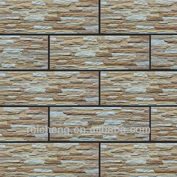 New 3d Pocerlain Out Door Inkjet Wall Tile Design In China 175*500mm PM17563