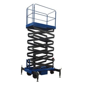 7.5 Meters Light Duty Hydraulic Mobile Scissor Lift Platform with Motorized Device
